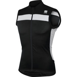 Sportful Pista Sleeveless Jersey - Black/White