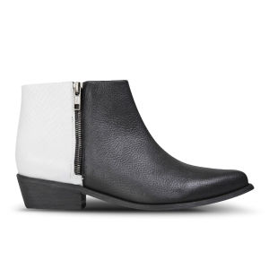 Sol Sana Women's Joey Leather Ankle Boots - Black/White