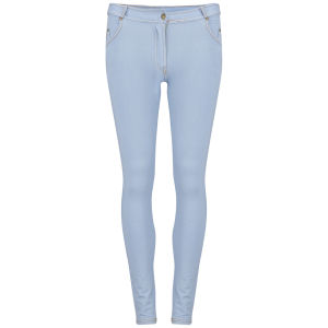 Influence Women's Zip Front Jeggings - Light Blue