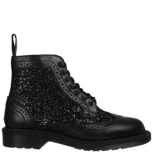 Dr. Martens Made in England Women's Surya Brogue Boots - Black Glitter