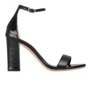 Kurt Geiger Women's Isabella Leather/Croc Print Heeled Sandals - Black