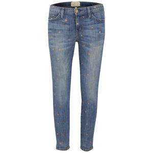 Current/Elliott Women's Stiletto Star Print Low Rise Skinny Jeans - Saratoga with Mini Stars
