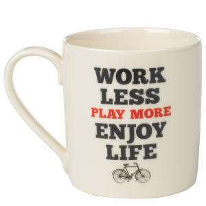 Manifesto Mug 'Work less..'