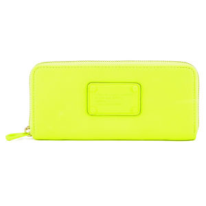 Marc by Marc Jacobs Electro Q Leather Slim Zip Around Purse - Safety Yellow