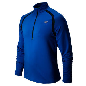 New Balance Men's Running Impact Half Zip Top - Laser Blue/Petrol