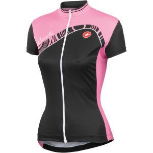 Castelli Tesoro Full Zip Jersey - Black/Pink