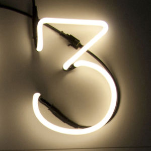Seletti Neon Font Shaped Wall Light - 3