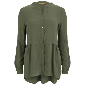 BOSS Orange Women's Chansone Blouse - Khaki