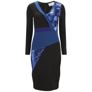 Lavish Alice Women's Sequin Bodycon Midi Dress - Blue