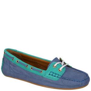 Sebago Women's Bala Moccasin Boat Shoes - Blue/Teal Green