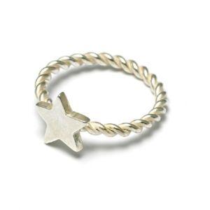 Vicky Davies Star Ring Silver