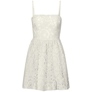 Glamorous Women's Bandeau Lace Skater Dress - Cream