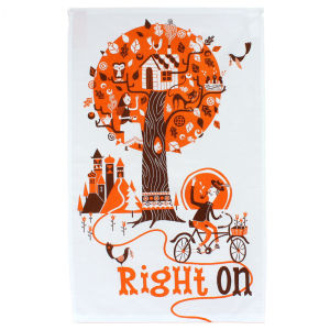Right On Stuart Kolakovic TDF Tea Towel