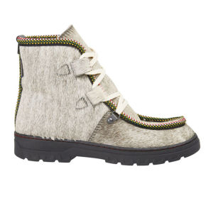 Penelope Chilvers Women's Incredible Moccasin Pony Skin Lace Up Boots - Gin and Tonic