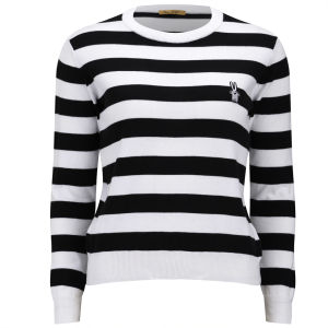Peter Jensen Women's Stripe Crew Neck - Black/White