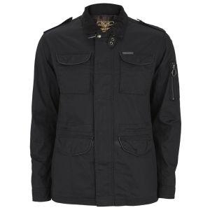 Ringspun Men's Checkmate Parka Coat - Black