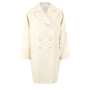 D.EFECT Women's Bobpin Spring Overcoat - Cream White