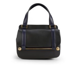 Rupert Sanderson Leonara Leather Mini Handbag - Black Calf and Navy