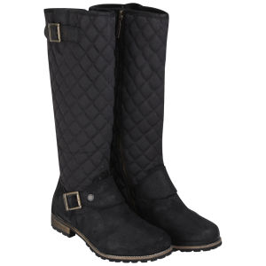 Barbour Women's Hoxton High Leg Quilted Biker Boots - Black