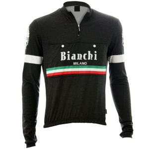 Bianchi Men's Hiten Vintage Woolen Long Sleeve Jersey - Black