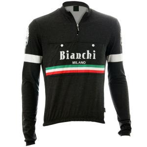 Bianchi Hiten Vintage Woolen Long Sleeve Jersey - Black
