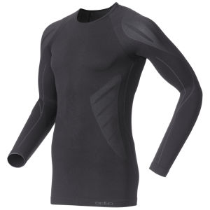 Odlo Men's Evolution Light Long Sleeve Crew Neck Base Layer - Black