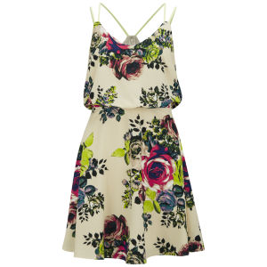 VILA Women's Flourish Dress - Sandshell