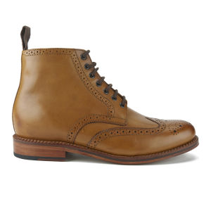 Grenson Men's Sharp Leather Brogue Boots - Tan