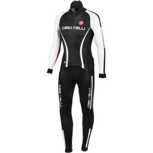 Castelli Sanremo Thermosuit - Black/White/Red