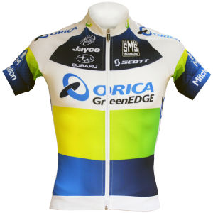 Orica Greenedge Team Original Full Zip Ss Jersey - 2013
