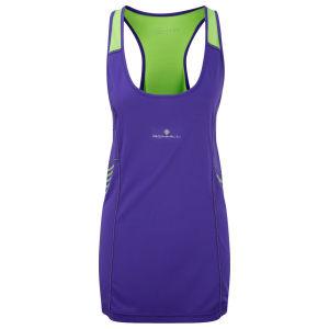RonHill Women's Aspiration Over Vest - Plum/Fluorescent Green