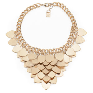 Kardashian Kollection KK Layered Heart Collar Necklace - Gold