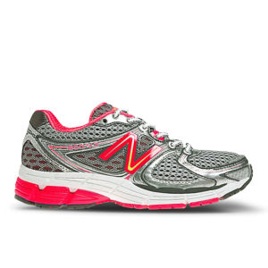 New Balance Women's W860SP3 Stability Running Shoes - Silver/Pink