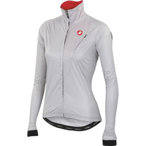 Castelli Women's Illumina Shell Windbreaker Jacket - Silver