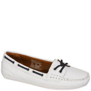 Sebago Women's Bala Moccasin Boat Shoes - White/Navy