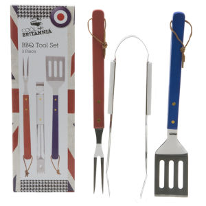 Cool Britannia 3 Piece BBQ Tool Set