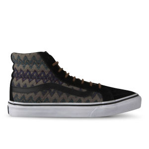 Vans Women's Sk8-Hi Slim Hi-Top Trainers - (Zig Zag) Black