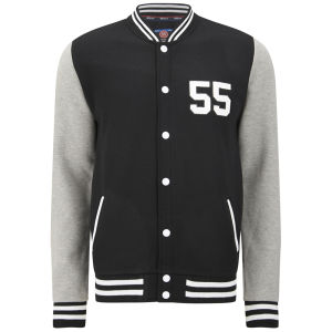 55 Soul Men's Manning Baseball Jacket - Black/Grey