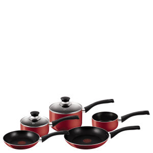 Tefal A161S545 Bistro Red 5 Piece Set