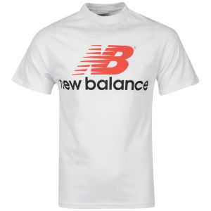 New Balance Men's White Back Logo T-Shirt