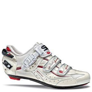 Sidi Genius 6.6 Carbon Vernice Cycling Shoe White/Cream/Red