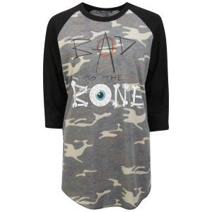 Prince Peter Women's Bad To The Bone Raglan T-Shirt - Camo