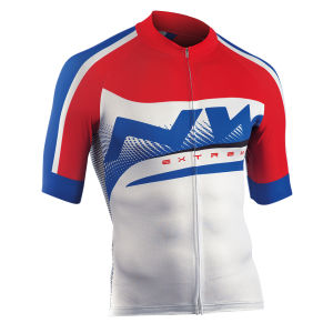 Northwave Men's Extreme Graphic Short Sleeve Jersey - White/Red/Blue