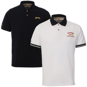 Slazenger Men's 2-Pack Polo Shirts - White/Navy