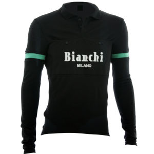 Bianchi Men's Camastra Long Sleeve 1/4 Zip Jersey - Black