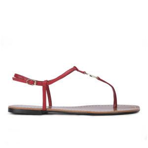 Lauren Ralph Lauren Women's Aimon Leather Sandals - Bright Red
