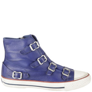 Ash Women's Virgin Hi Top Leather Trainers - Sapphire