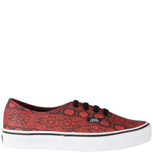 Vans Women's Authentic Snake Print Trainers - True Red