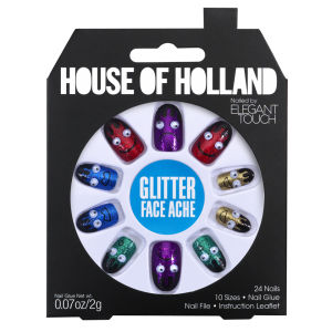 House of Holland Nails Created by Elegant Touch - Glitter Face Ache