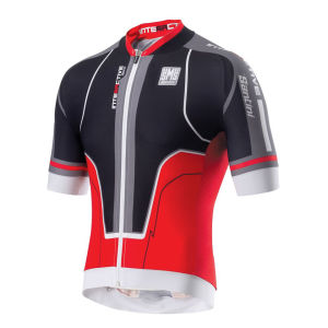 Santini Interactive Aero Short Sleeve Jersey - Black